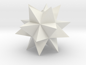 Spikey Stellation 2.4 in White Strong & Flexible