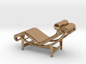 Mies-Van-Chaise-Chair - 2 Scaled Options in Polished Brass: 1:24