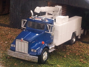 1/64 Service Truck Body (No Crane) (S Scale) in White Processed Versatile Plastic