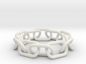 Bracelet Chain in White Natural Versatile Plastic