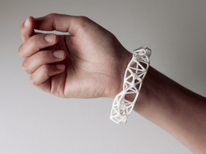 Osseous Bracelet in White Strong & Flexible Polished