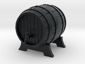 Wooden Barrel in Black Hi-Def Acrylate