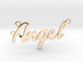 Angel Pendant in 14K Yellow Gold