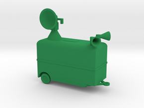 1/110 Scale Radar Trailer in Green Strong & Flexible Polished
