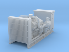 1/50th Diesel Electric Generator w Cabinet in Smooth Fine Detail Plastic