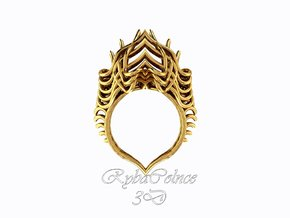 Ring The Lotus Flower Tower  in 14k Gold Plated Brass
