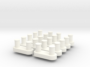 Bollard for tugboat 1/50 in White Processed Versatile Plastic