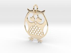 OWL Keychain in 14K Yellow Gold
