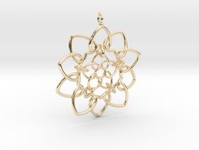 Heart Petals Links - 6.4cm - wLoopet in 14K Yellow Gold