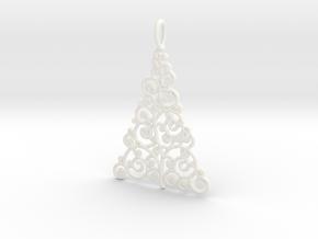Christmas Tree Pendant 9 in White Processed Versatile Plastic
