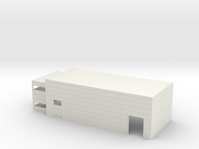 N Scale Industrial Building W Office Mirrored in White Natural Versatile Plastic