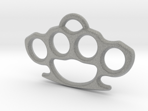 Brass knuckle Pendant in Metallic Plastic