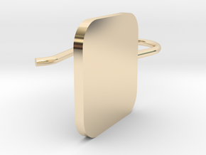 Custom Squared Earring With Hook in 14k Gold Plated Brass