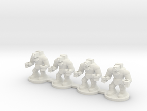 Orc War Robot in White Natural Versatile Plastic