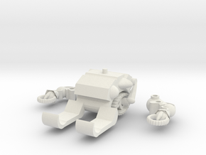 MOD BOT  PART ADD-ON (ICE CRUSHER) in White Strong & Flexible: Large