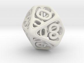 Hedron Dice Set in White Natural Versatile Plastic: d00