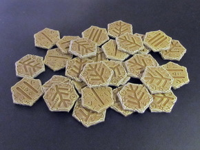 Elder Sign tokens in White Natural Versatile Plastic: Small