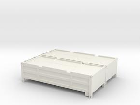 "2x 20 ft ""Half Height"" Container mit klappbarem De in White Natural Versatile Plastic"