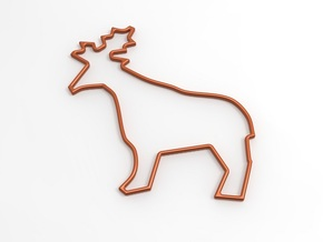 Deer Stencil in White Natural Versatile Plastic