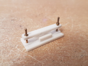 O14 Type 1 Point Frog Rail Cutting Jig in White Strong & Flexible