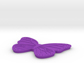 Butterfly Box Lid in Purple Processed Versatile Plastic