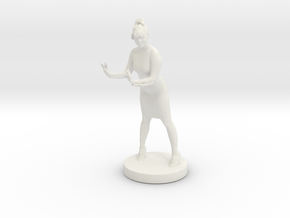 Printle C Femme 002 in White Strong & Flexible: 1:32