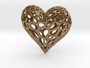 Organic Heart in Natural Brass
