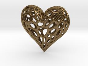 Organic Heart in Natural Bronze