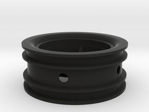 RIM003-00 2.2in Star Wheel, Front, 0mm Offset in Black Natural Versatile Plastic