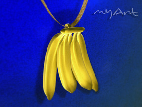 Banana in Polished Gold Steel