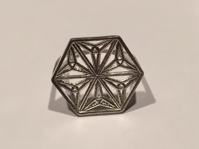 Silver Snowflake Ring in Natural Silver: 8 / 56.75