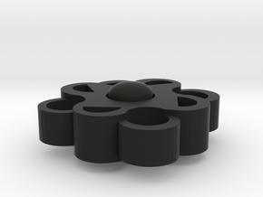 Night Orchid - Fidget Spinner in Black Natural Versatile Plastic: Large