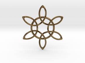 Floral Pendant in Polished Bronze