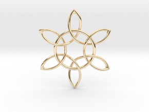 Floral Pendant in 14K Yellow Gold