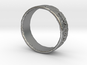 Smile Ring in Natural Silver