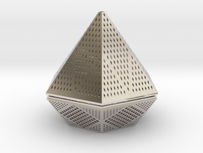 Diamond lampshade in Rhodium Plated Brass
