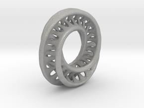 1 Inch Interconnected Moebius in Aluminum