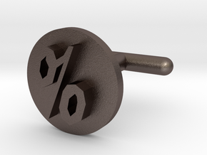 Percentage Symbol Cufflink  in Stainless Steel