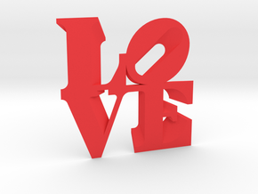 LOVE Sculpture wall decoration in Red Strong & Flexible Polished