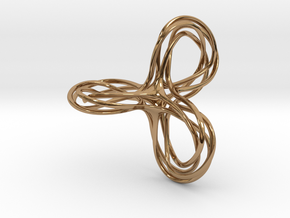 Tri-Moebius Knot in Polished Brass (Interlocking Parts)