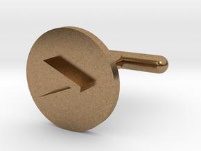 Cufflink - Greater Than Symbol in Natural Brass
