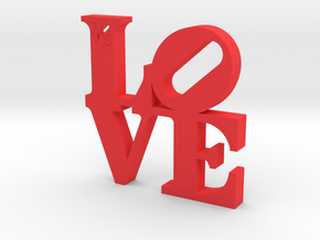 LOVE Sculpture  in Red Strong & Flexible Polished: Large
