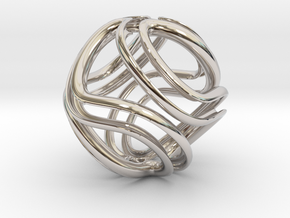 Twisted Infinite in Rhodium Plated Brass