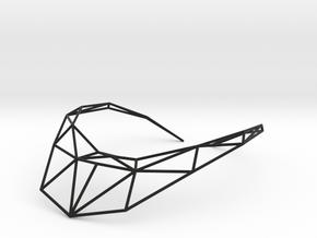 Strukt Necklace in Black Natural Versatile Plastic