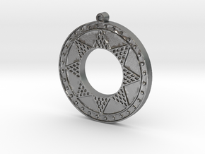 Ancient Sun (solid, raised design) in Natural Silver