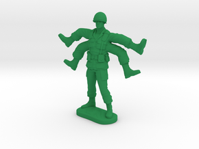 Foot Soldier | Weird Warrior | Mutant Army Man in Green Strong & Flexible Polished