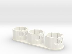 Holder - Dyson V7/V8 x3 Tool - Wall Mount in White Processed Versatile Plastic: Medium