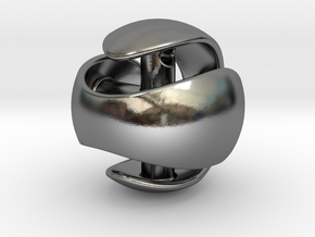 Sphere Pendant (large) in Polished Silver