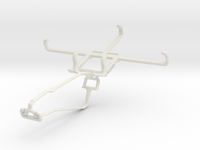Controller mount for Xbox One Chat & BLU Studio C  in White Natural Versatile Plastic