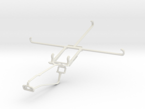 Controller mount for Xbox One Chat & Jolla Tablet in White Natural Versatile Plastic